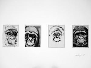 """""""Le Singe"""", der Affe, 08, a 16 x 11,5 cm"""