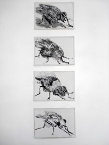 """""""La Mouche"""", 08, a 18 x 13 cm, Acryl auf Pk."""