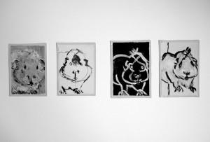 """L' hamster"", 08, a 17 x 12 cm, Acryl auf Pk."