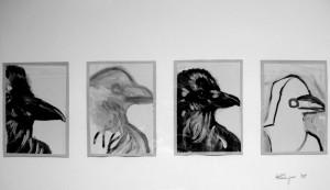 """""""Le Corbeau"""", 08, a 18 x 13 cm, Acryl auf Pk."""