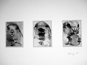 """""""La Marmotte"""", a 18 x 13 cm, Acryl auf Pk."""