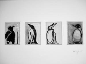 """""""Le Pingouin"""", 08, a 17 x 12 cm,Acryl auf Pk."""