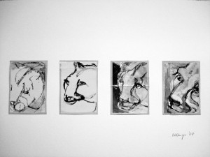 """Le Puma"", 08, 16 x 11,5 cm, Acryl auf Pk."