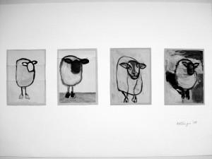 """""""Le Mouton"""" 2, a 16 x 11,5 cm, Acryl auf Pk."""