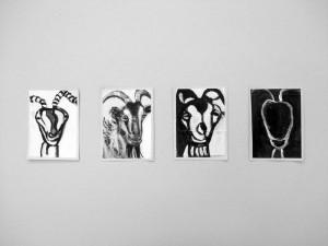 """""""La Chévre"""", 08, a 16 x 11,5 cm, Acryl auf Pk."""