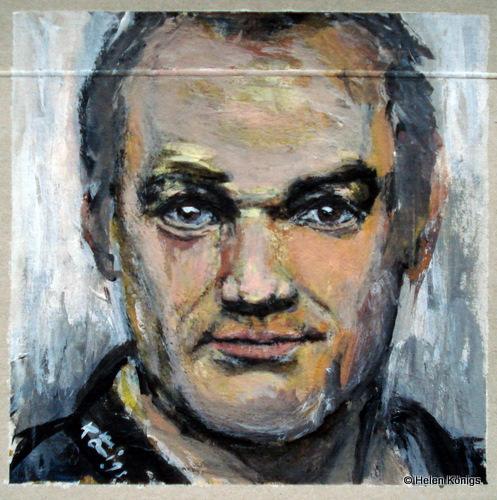 Portrait Pizzakartonmalerei Helen Königs